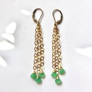 Jewelry - Gemstone 14K Gold Filled Chrysoprase Earrings